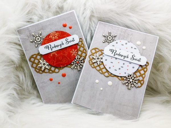 kartki na Boże Narodzenie ręcznie tworzone scrapbooking eunika jedynak